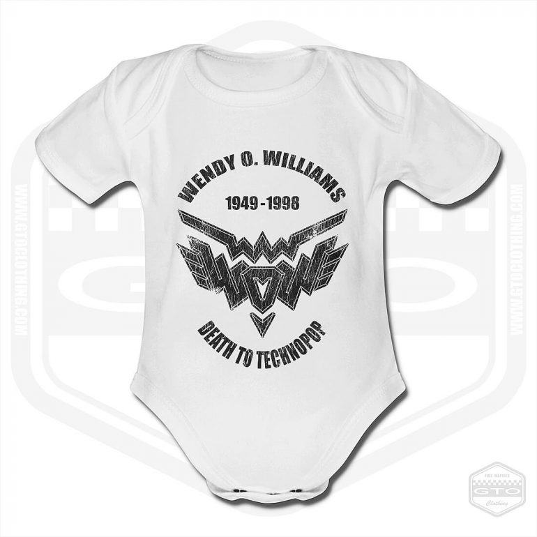 Wendy O Williams Death To Technopop Short Sleeve Baby Body White