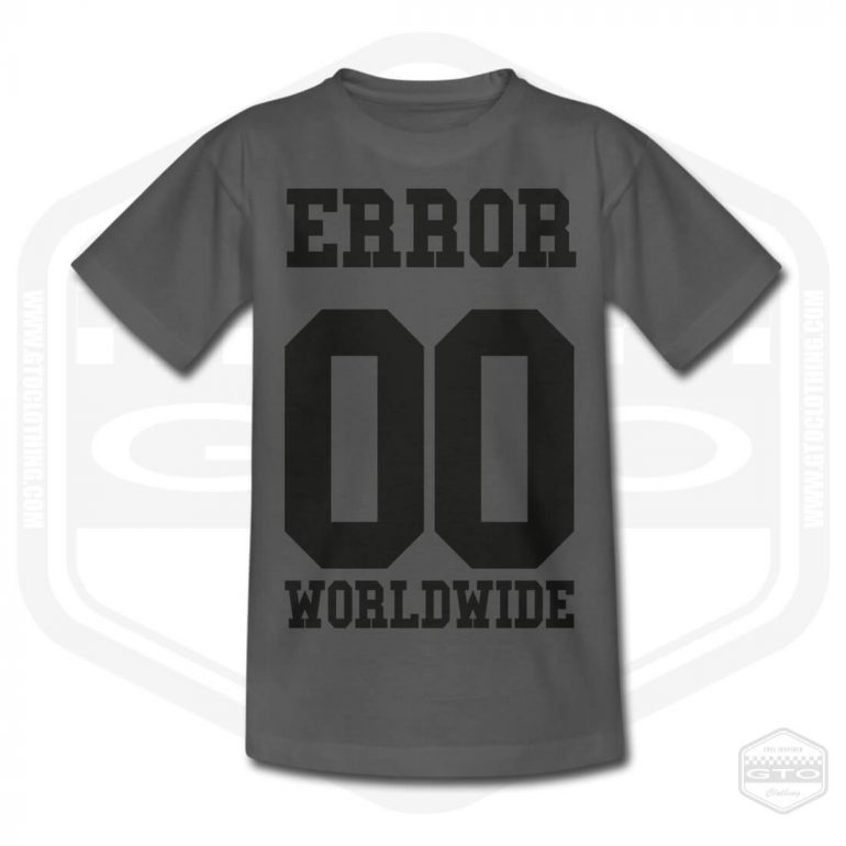 00 error worldwide childrens t shirt charcoal with black front print product