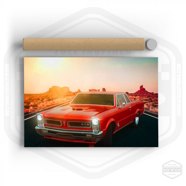 1965 Pontiac GTO Monument Valley Poster 36x24 Poster