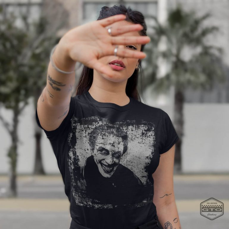 conrad veidt the man who laughs womens t shirt black with grey front print lifestyle3