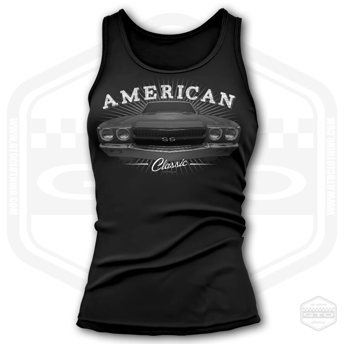 Made In USA by GTO Clothing 70 Challenger Awaken Women/'s Tank-Top Black S-3XL